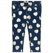 Guess Blue Heart Print Jeggings 3-6 months