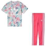 adidas Originals Logo T-shirt and Leggings Set Multicolour 3-4 years (...