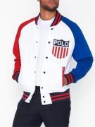 Polo Ralph Lauren Polo Shield Baseball Jacket Puserot White Multi