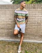 Levi's original small batwing multi stripe t-shirt in hedge green