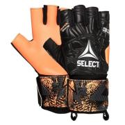 Select Maalivahdin Hanskat Futsal LIGA 33 - Musta/Oranssi